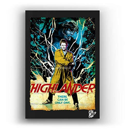 Connor McLeod y el Kurgan de Highlander Los Immortales - Pintura Enmarcado...