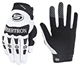 Seibertron Dirtpaw Men's Profesional Bicycle MTB Racing Off-road/Dirt bike Sports Gloves (WHITE, M)