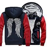 Xcostume WD ダリル パーカー ディクソン コスチューム 衣装 厚い 裏起毛 暖かい 秋冬適用 レッド袖 XL