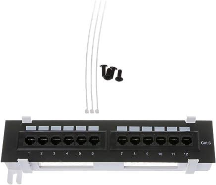 chuxioner 12 porte CAT6 patch panel RJ45 montaggio a parete per montaggio a parete - Trova i prezzi più bassi