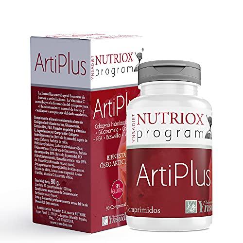 Colágeno Marino Hidrolizado + Glucosamina + Vitamina C| Articulaciones Suplemento| Huesos y Articulaciones más fuertes y sanas| Sin Gluten| 90 Comprimidos
