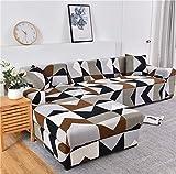 Funda de sofá geométrica Funda de sofá Fundas de sofá elásticas para la Esquina de la Sala de Estar Chaise Longue en Forma de L Sillón Sofá Funda A26 4 plazas