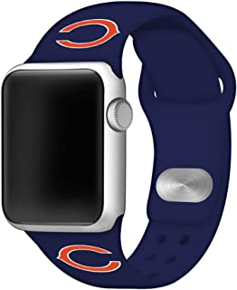 Game Time Chicago Bears Silicone Sport Band Compatible with Apple Watch - Band ONLY (42mm/44mm)