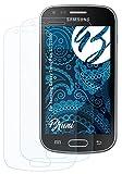 Bruni Película Protectora Compatible con Samsung Galaxy Trend Plus GT-S7580 Protector Película, Claro Lámina Protectora (2X)