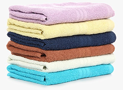 Bombay Dyeing Cotton Hand Towel 450 GSM (Set of 4, Multicolour)