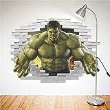 Cartoon Avengers Hulk Peel Wandaufkleber Für Kinderzimmer