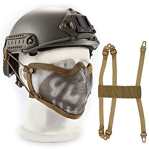 Wwman - Máscara protección Inferior Rostro, Malla