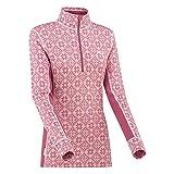 Kari Traa - Camiseta térmica de lana merina con media cremallera para mujer - rosa - Large