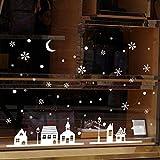Transwen Decoración, copos de nieve, decoración de ventanas, decoración de...