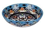 La Reina Talavera - Lavabo de cerámica hecho a mano - Cerames   Lavabo 36 x 13 cm   Lavabo de cerámica mexicano, para baños, invitados, aseo...