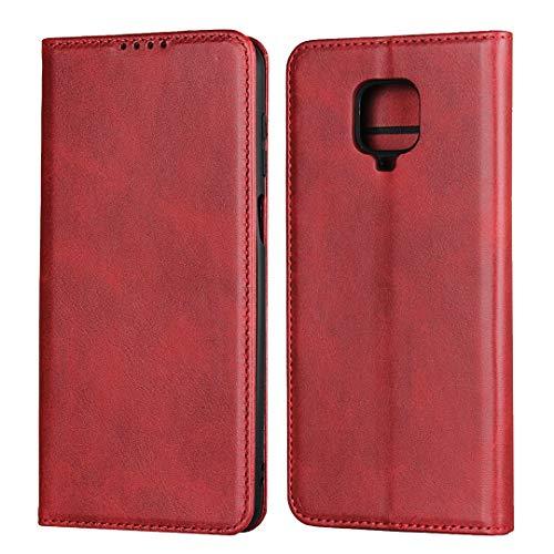 Redmi Note 9S ケース【COKOVI】Xiaomi Redmi Note 9S ケース カードホルダー付き 手帳型 マグネット吸着 小銭収納 (レッド)