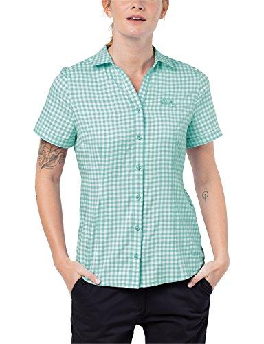 Jack Wolfskin Kepler T-Shirt pour Femme à séchage Rapide Léger pour Le Quotidien XXL Vert Menthe à Carreaux