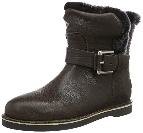 Shabbies Amsterdam Damen Shabbies Buckle Strap Short Boot 17cm Merino Lammy Lining Alexia Schlupfstiefel, Grau (Grey), 39