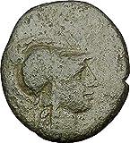 133 GR PERGAMON in MYSIA 133BC Athena Trophy Helmet Auth coin Good