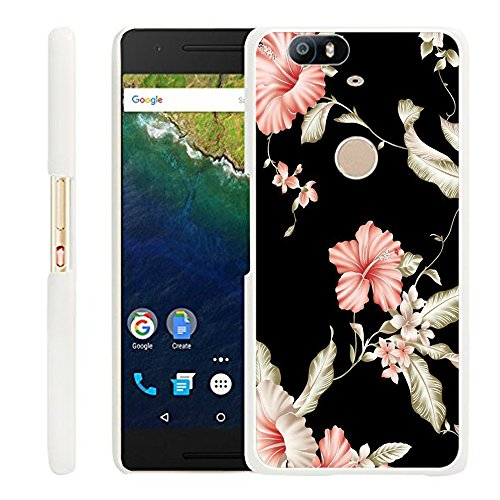 Huawei Nexus 6P Case Rose,Gifun Slim White Hard Back Case for Huawei Google Nexus 6P - Pink Rose Case