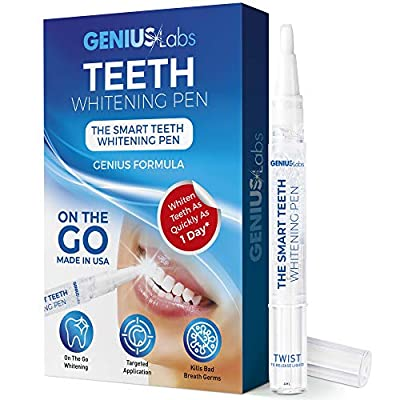 GENIUS Teeth Whitening Pen 4mL, Effective, Painless, No Sensitivity, Travel-Friendly, Easy to Use, Smart Whitening, Beautiful White Smile