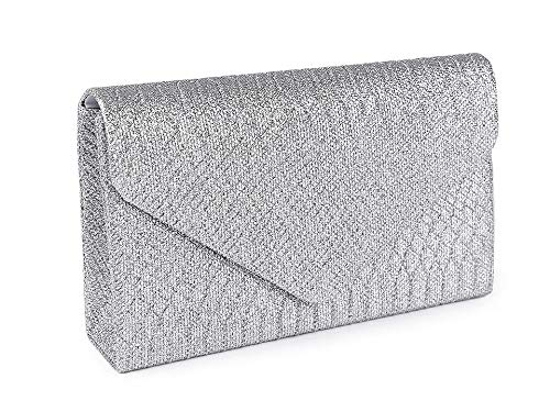 1pc Zilveren Clutch/Formele Avond Tasje Met Glitter, Tassen, Handtassen, Clutches, Mode-Accessoires