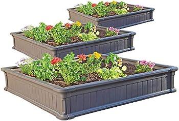 3-Pack Lifetime 4x4-Foot Raised Garden Bed Kit