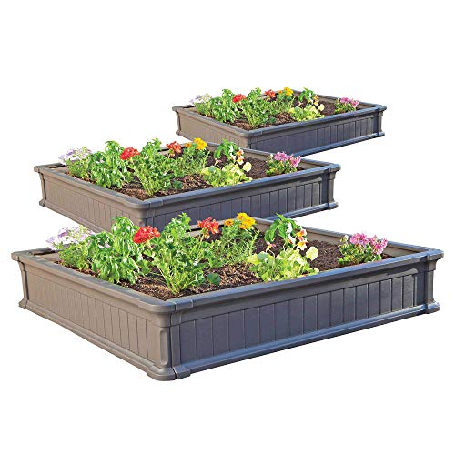 Lifetime 60069 Raised Garden Bed Kit, 4 by 4 Feet, Pack of 3 Now $139.98
