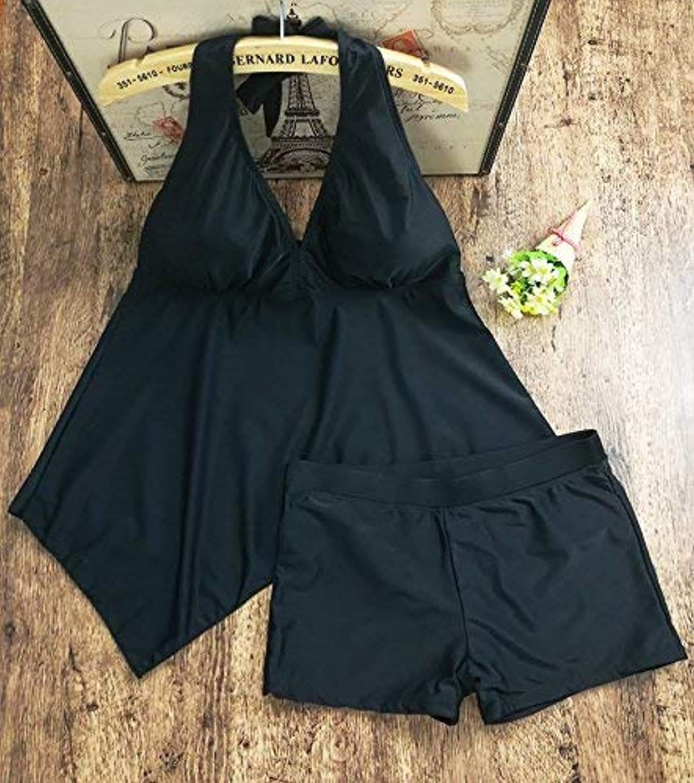 Der European And American Bikini Swimsuit_Split Bikini Swimwear Sexy Bikini Split, Ms. Black Women's swimwear