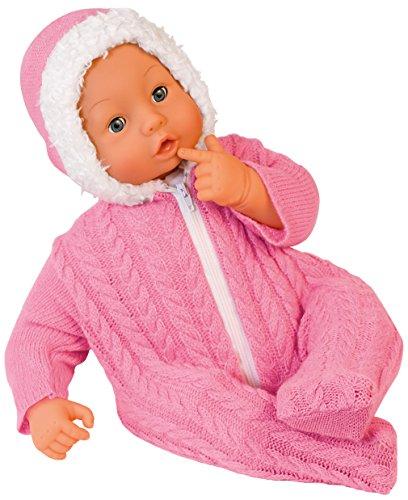 Bayer Design 94668 - Baby Bambolina 46 cm mit hübschen Strickstrampler, pink