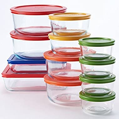 Pyrex 24-pc. Glass Storage Set with Color Lids