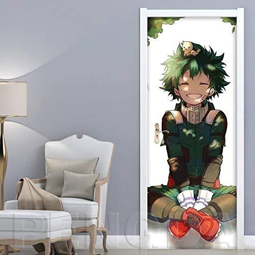 3D Türaufkleber selbstklebende Tür Tapete Anime Charakter 77x200cm Türfolie Poster Tapete Fototapete Wasserdichte abnehmbare Tapete Vinyl Tür Aufkleber Innentür Schlafzimmer Badezimmer Küche Kunst Au