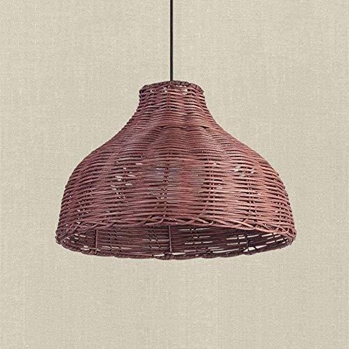 aipipl Luces de jardín Sudeste de Asia Luces Colgantes de ratán de bambú Lámpara Colgante de Campo Luz de Mimbre para Restaurante Cocina Accesorios de iluminación de suspensión para el hogar Lámpar