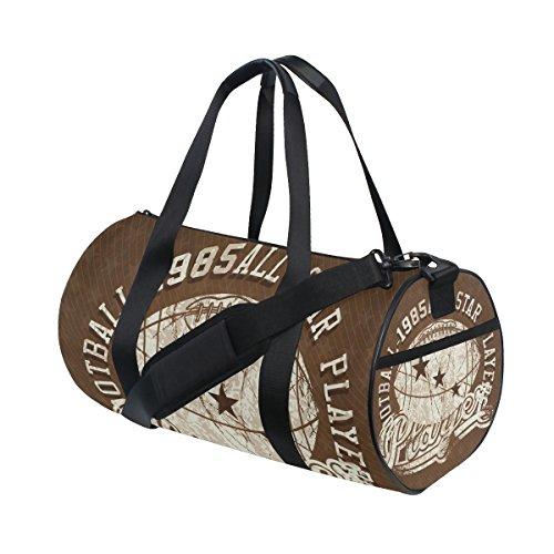 COOSUN American Football Duffle Bag Handlich Sports Gym Bags Schultertasche für Männer und Frauen