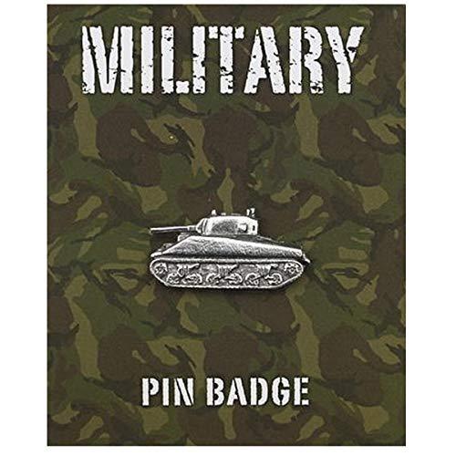 Les Trésors De Lily [Q2101 - Pin pin '' 'Military' versilbert (Tank Sherman)- 35x15 mm.