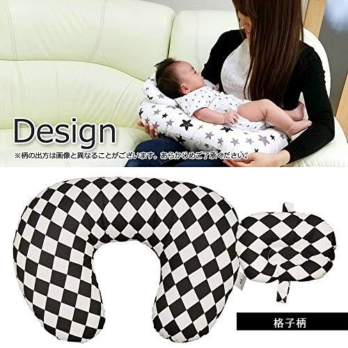 『授乳クッション 授乳まくら 授乳ピロー 赤ちゃん ミニ枕付き 綿素材 洗える (星)』の8枚目の画像