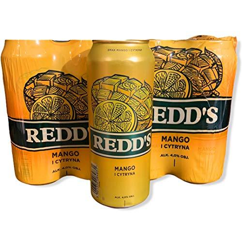 8 Dosen a 500ml vom polnischem Redd's Mango Bier mit nur 4% Alkohol