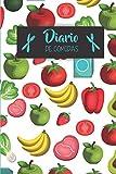 Diario de comidas: Con este diario vas a poder organizar, planificar y registrar tus comidas semanales- Formato 16 x 23cm con 106 páginas - ... de 52 semanas y lista de la compra semanal