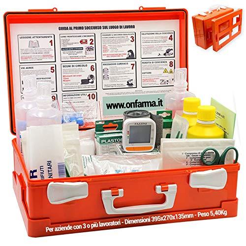 Digit FARMA2 con MISURATORE di Pressione Digitale Cassetta Pronto Soccorso Cassetta Medica Conforme DM 388 Allegato 1 per aziende con 3 o più Lavoratori