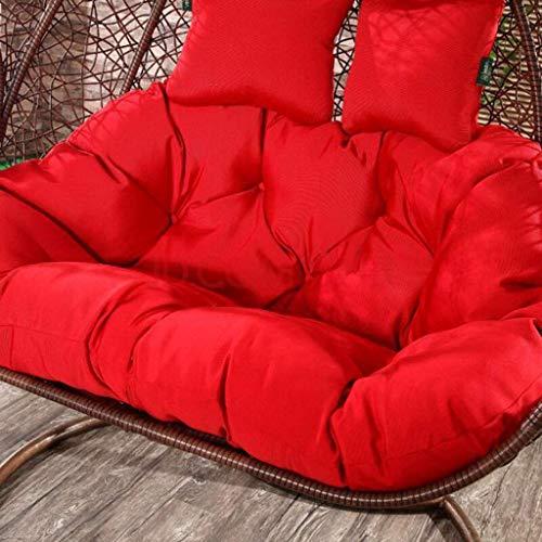 Hangende Ei hangstoel pads, zonder standaard Multi kleur Swing stoel kussen Dikke Nest Hangende stoel Terug met kussen, Grootte: 140 x 110cm (Kleur: wit)
