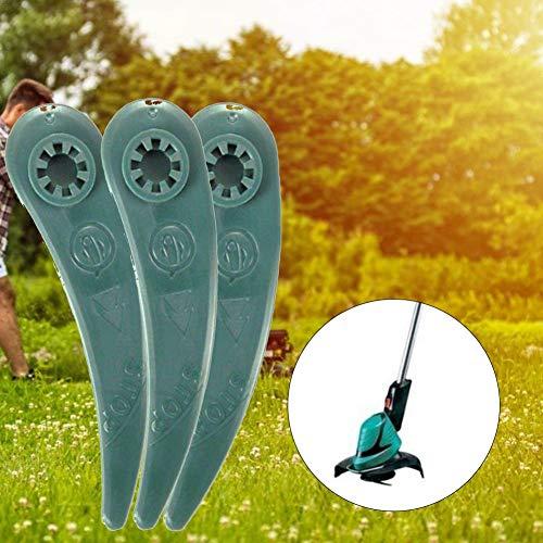 N/C Grass Trimmers,25PCS Plastic Trimmer Replacement Blades, Grass Mower Blade Universal Outdoor Brush Cutter Strimmer Head Blades for Bosch Art 26-18Li Art 23-18 Li Trimmer