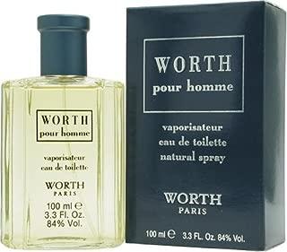 Worth By Parfums Worth For Men. Eau De Toilette Spray 3.3 Ounces
