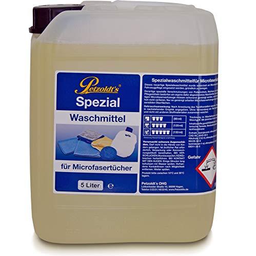 5 Liter Petzoldt's Spezial Waschmittel für Microfaser-Poliertücher die zur Fahrzeugpflege verwendet werden, Microfaserwaschmittel, Mikrofaser