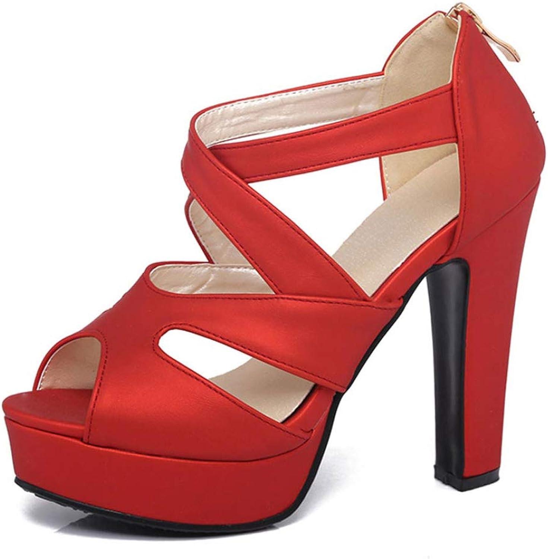 MEIZOKEN Women's Cross Strappy High Heel Sandals Classic Open Toe Cutout shoes Ankle Strap Platform Pump Sandal