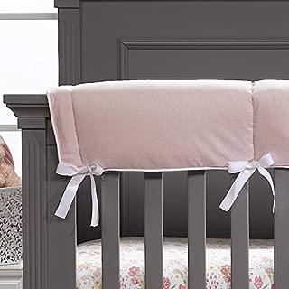 Petal Pink Linen Crib Rail Cover