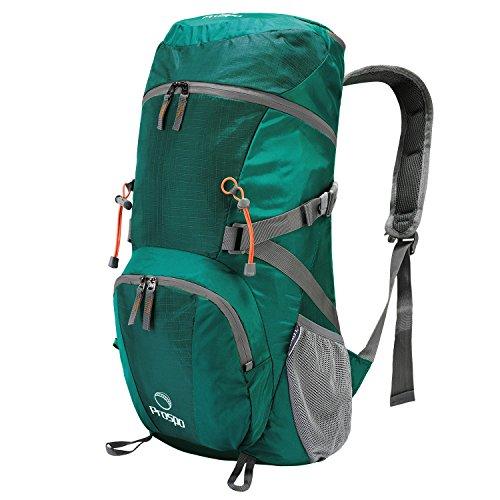 Prospo 40L Lightweight Foldable Hiking Backpack Camping Rucksack Climbing Bag Large Packable Travel Daypack for Backpacking Trekking