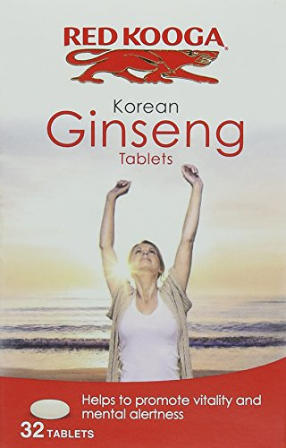 Red Kooga Ginseng Tablets | 32 Easy-to-Swallow Tablets | Containing Korean Panax Ginseng | To Promote Vitality & Mental Alertness