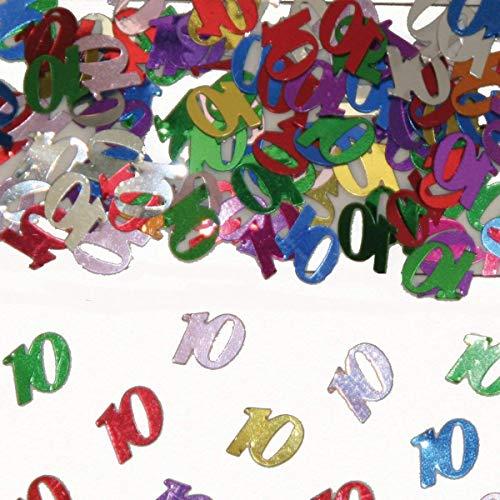 Folat FOL053099P1 5309 - Tischkonfetti Zahl 10 - bunt - 1 x 14 gr.