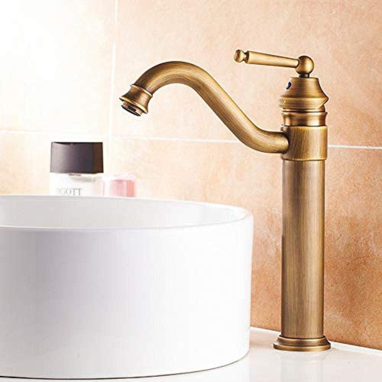 Wasserhahn-360-Grad-Drehung Antik Messing Classic High Waschbecken Mixer Waschbecken Wasserhahn Mischbatterie montiert Wasserhahn
