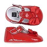 VESNIBA Baby Mädchen Bowknot Prinzessin Mokassin Taufe Schuhe Turnschuhe Single Footbed Schuhe