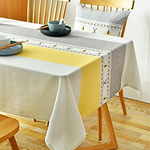 Asvert Manteles Rectangular Mantel Antimanchas Mantel para Mesa Tablecloth para La decoración del hogar (140x180cm)