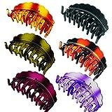 ZKSM 6 Stück Haarklammer Stabile Haarspangen Klammer für Dickes Haar