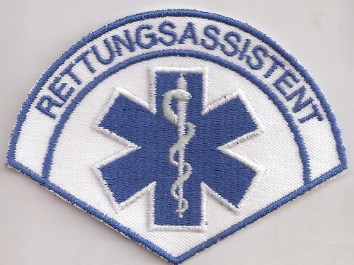 Rettungsassistent Rescue Medical RTH Emergency Rotes Kreutz Aufnäher Patch