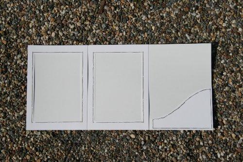 25 Stück weiße Leporello mit Goldrand, Verkaufsmappen, Abgabemappen, Foto - Portraitmappe, Leporello, Fotomappe
