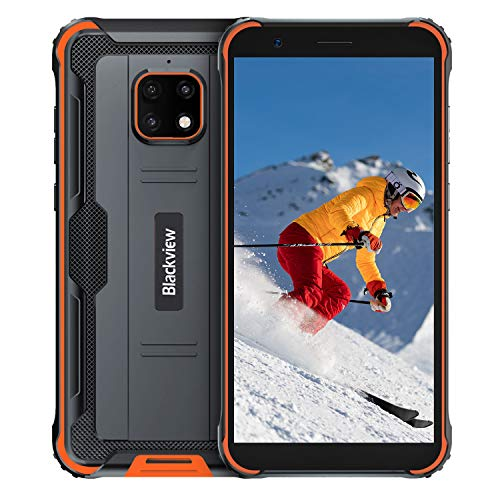 Blackview BV4900 アウトドア スマートフォン 4G SIMフリー スマホ本体 Android 10 IP68 防水 防塵 耐衝撃3GB RAM 32GB ROM 5580mAh大容量バッテリー 5.7インチ 5MP+8MP防水カメラ 顔認証 携帯電話 デュアルSIM(Nano) 防災用品 (オレンジ)